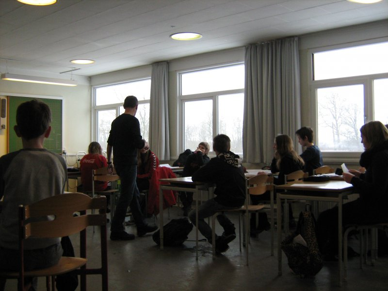 Workshop med 6.a og 6.b på Rougsøskolen